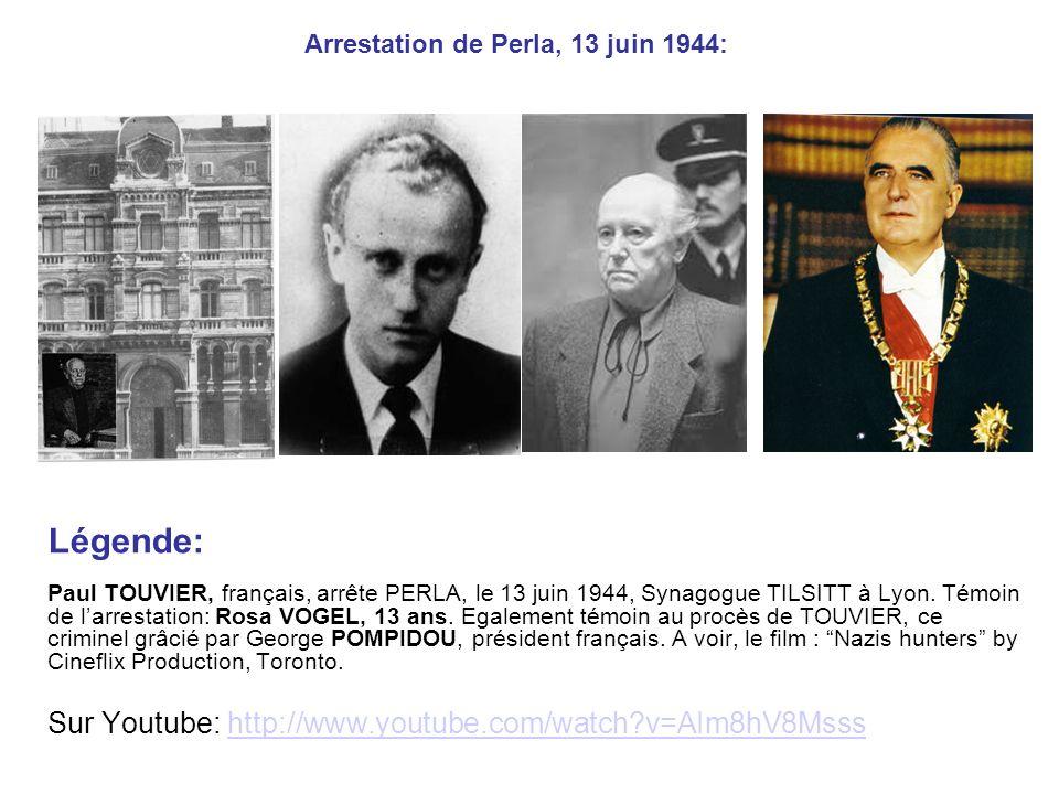 Arrestation de Perla, 13 juin 1944: