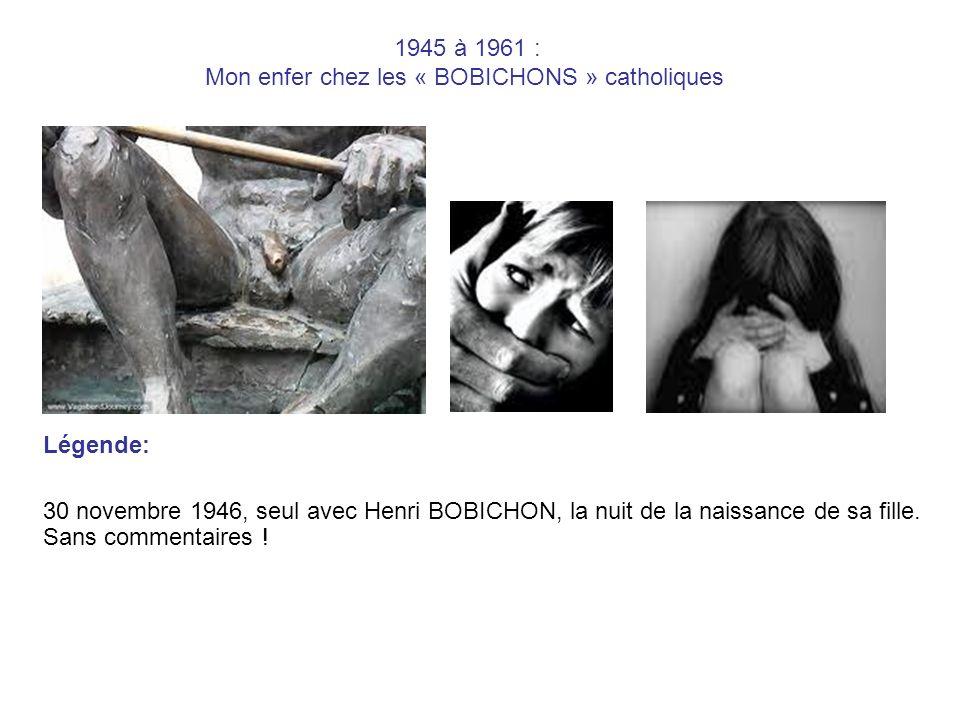 1945 à 1961 : Mon enfer chez les « BOBICHONS » catholiques