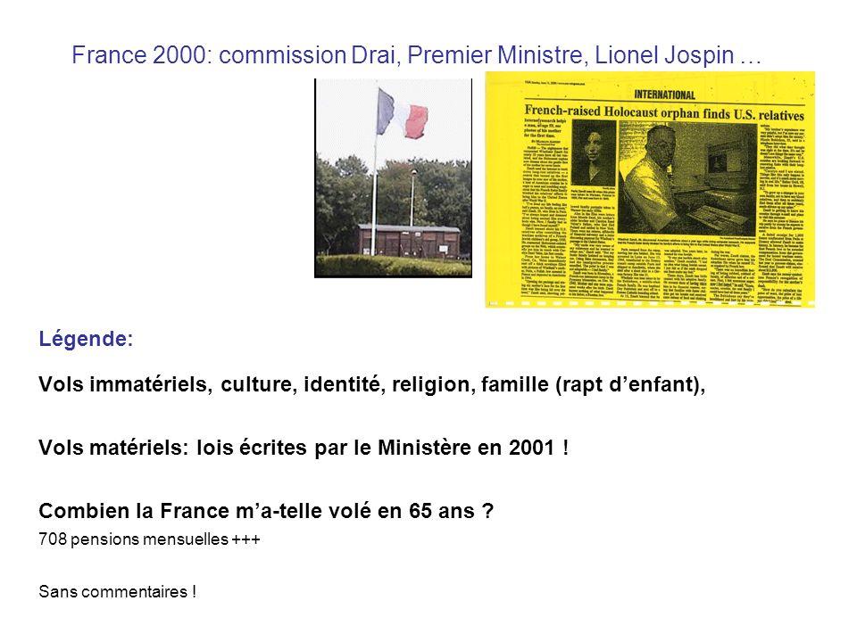 France 2000: commission Drai, Premier Ministre, Lionel Jospin …