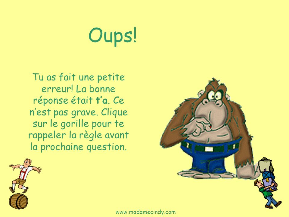 Oups!