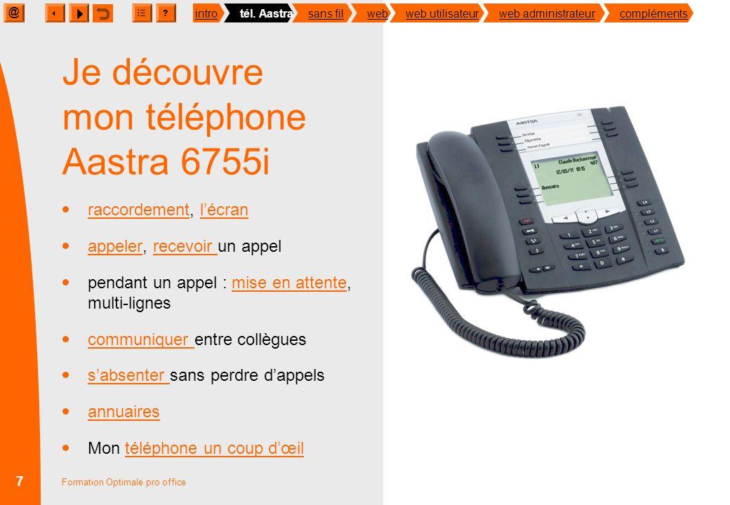 Je découvre mon téléphone Aastra 6755i