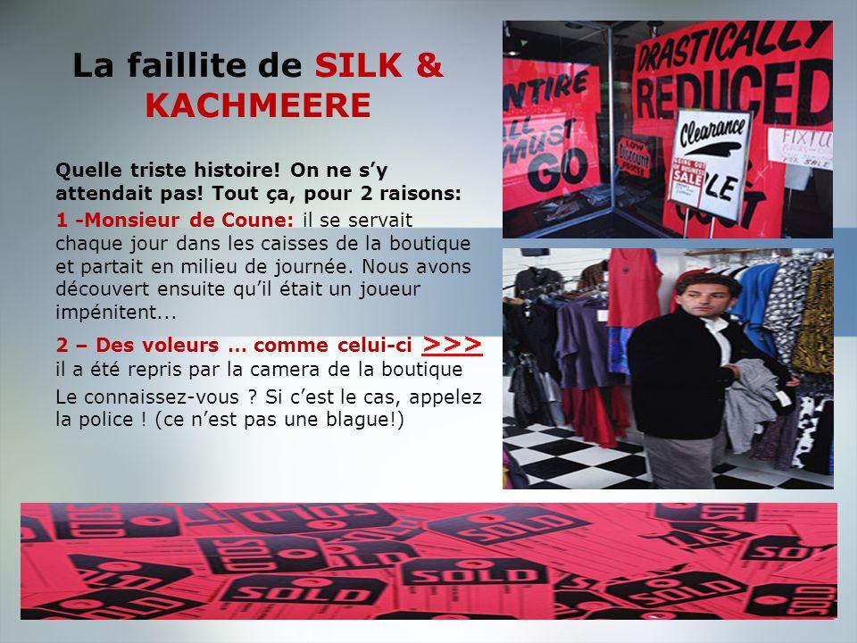 La faillite de SILK & KACHMEERE