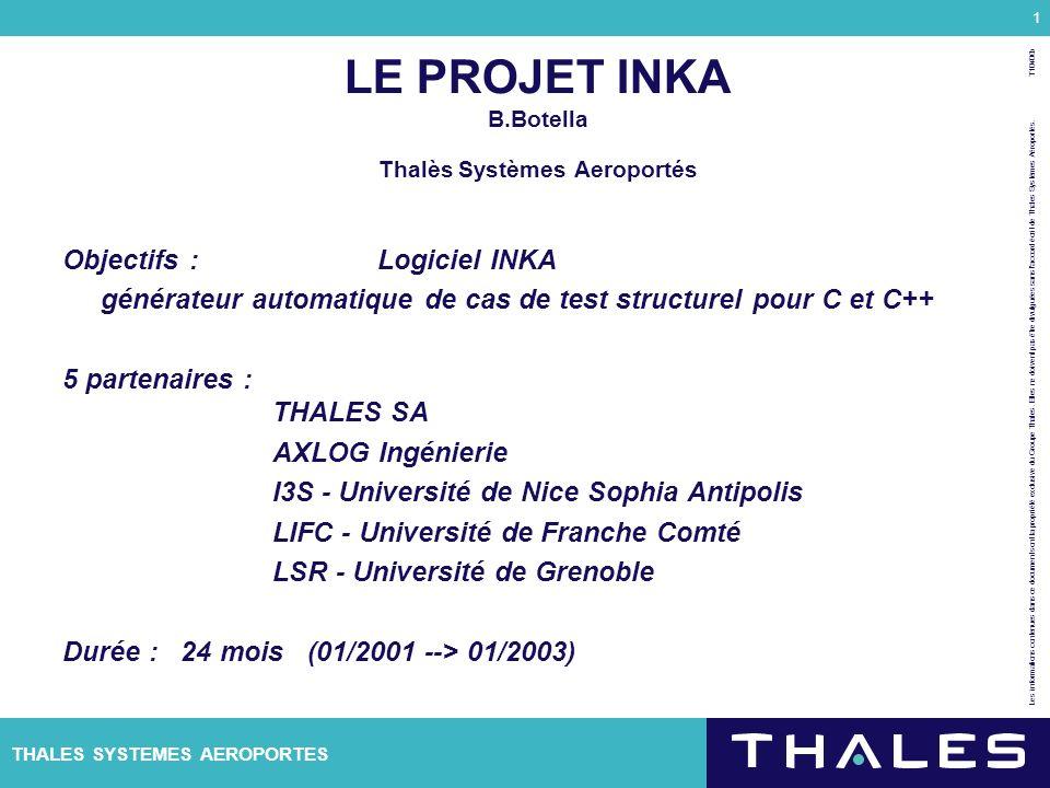 LE PROJET INKA B.Botella Thalès Systèmes Aeroportés