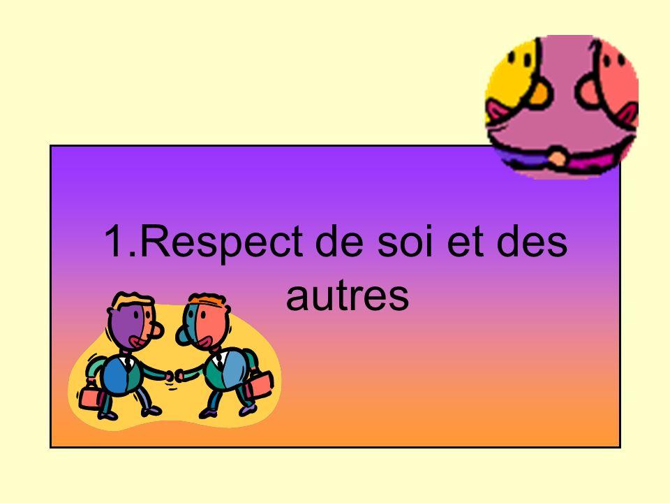 1.Respect de soi et des autres