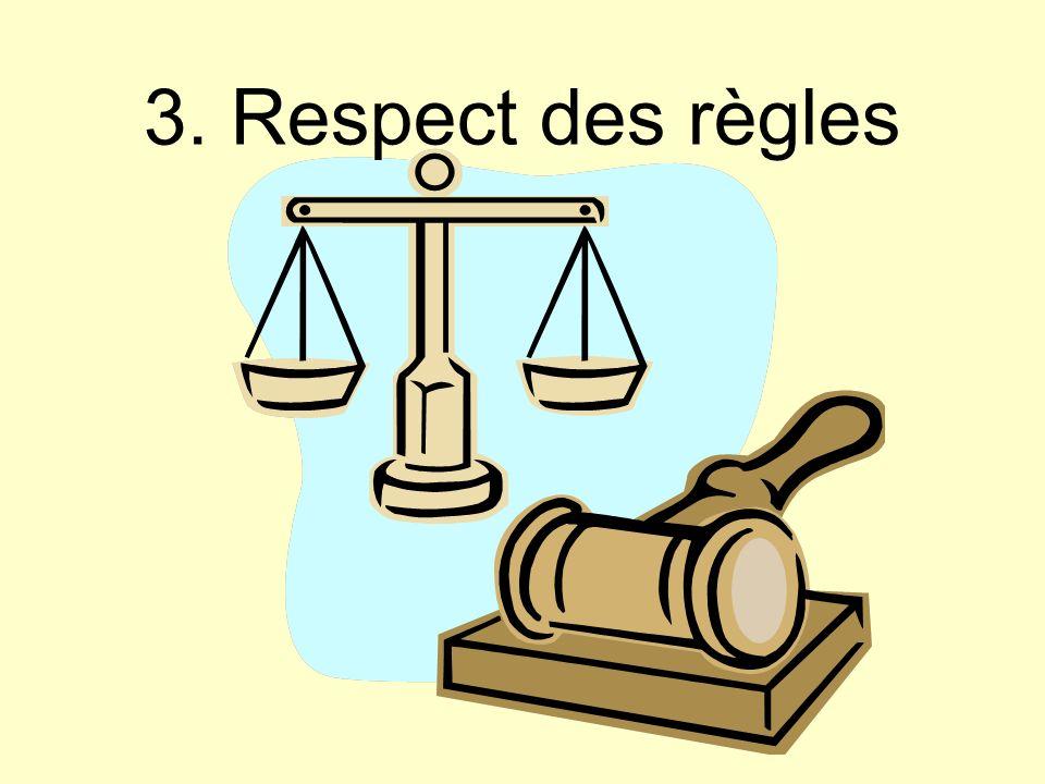 3. Respect des règles