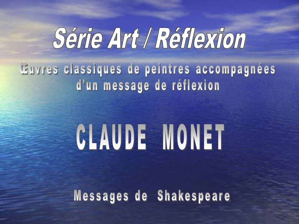 Série Art / Réflexion CLAUDE MONET