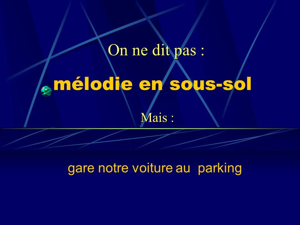 gare notre voiture au parking