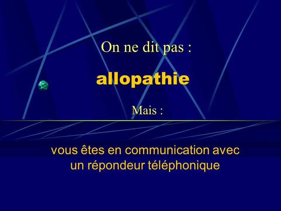 vous êtes en communication avec un répondeur téléphonique