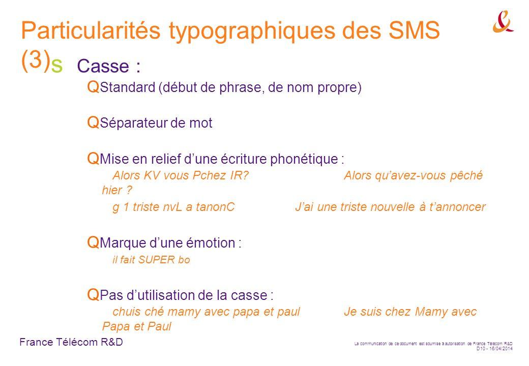 Particularités typographiques des SMS (3)