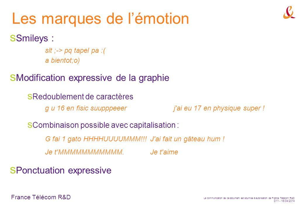 Les marques de l'émotion