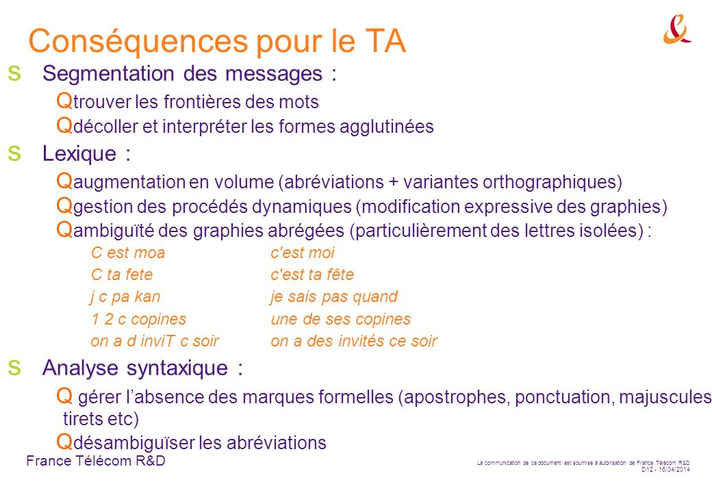 Conséquences pour le TA