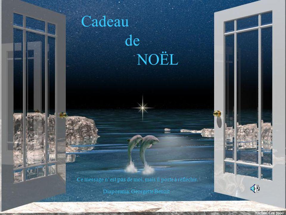 Cadeau de no l ce message n est pas de moi mais il porte - Noel est a votre porte ...