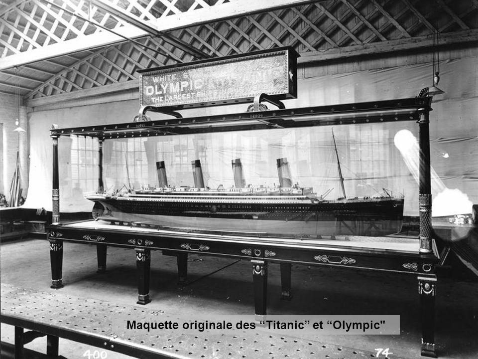 Maquette originale des Titanic et Olympic