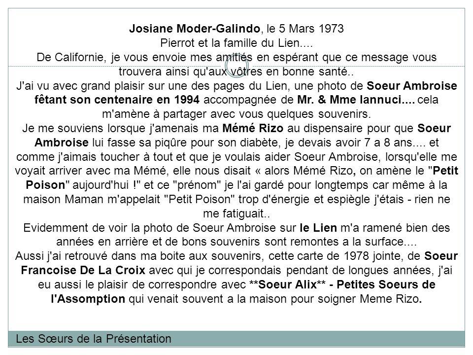 Josiane Moder-Galindo, le 5 Mars 1973