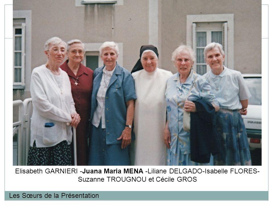 Elisabeth GARNIERI -Juana Maria MENA -Liliane DELGADO-Isabelle FLORES-Suzanne TROUGNOU et Cécile GROS