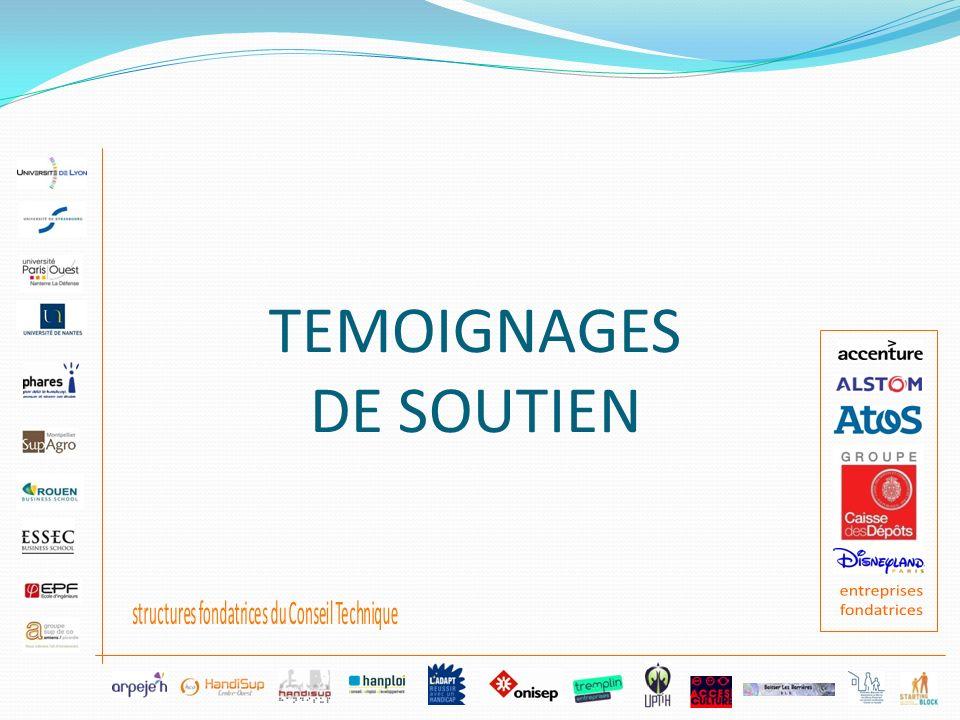 TEMOIGNAGES DE SOUTIEN