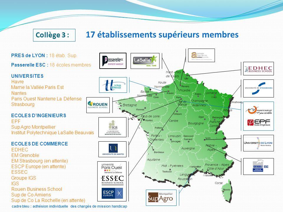 cadre bleu : adhésion individuelle des chargés de mission handicap