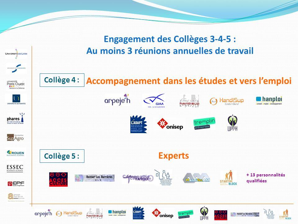 Engagement des Collèges 3-4-5 :