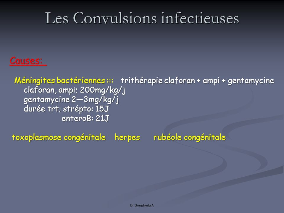 Les Convulsions infectieuses