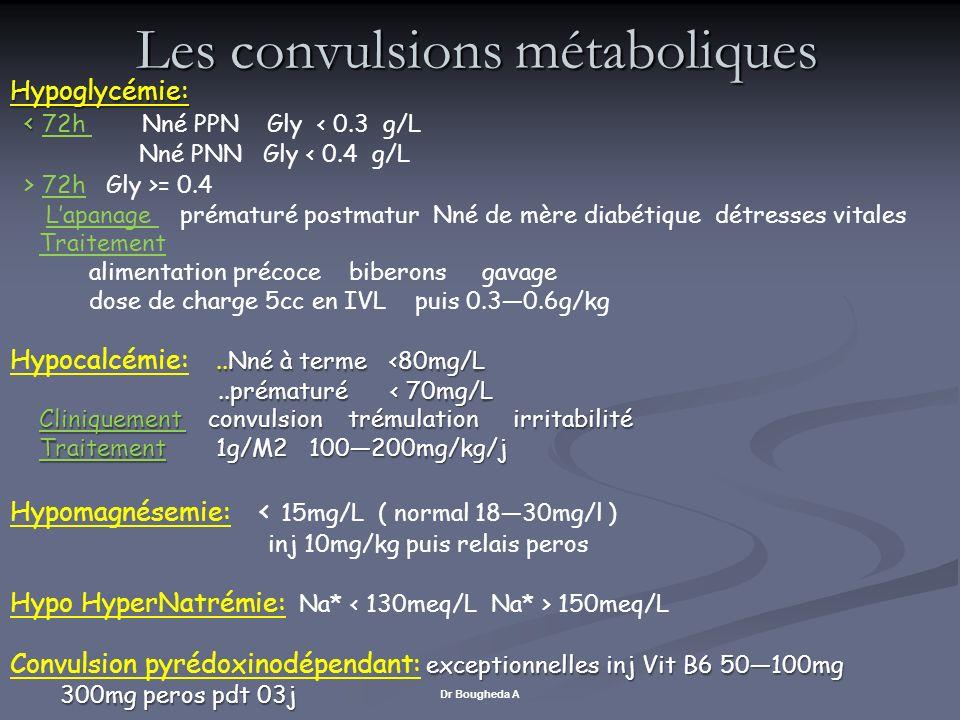 Les convulsions métaboliques