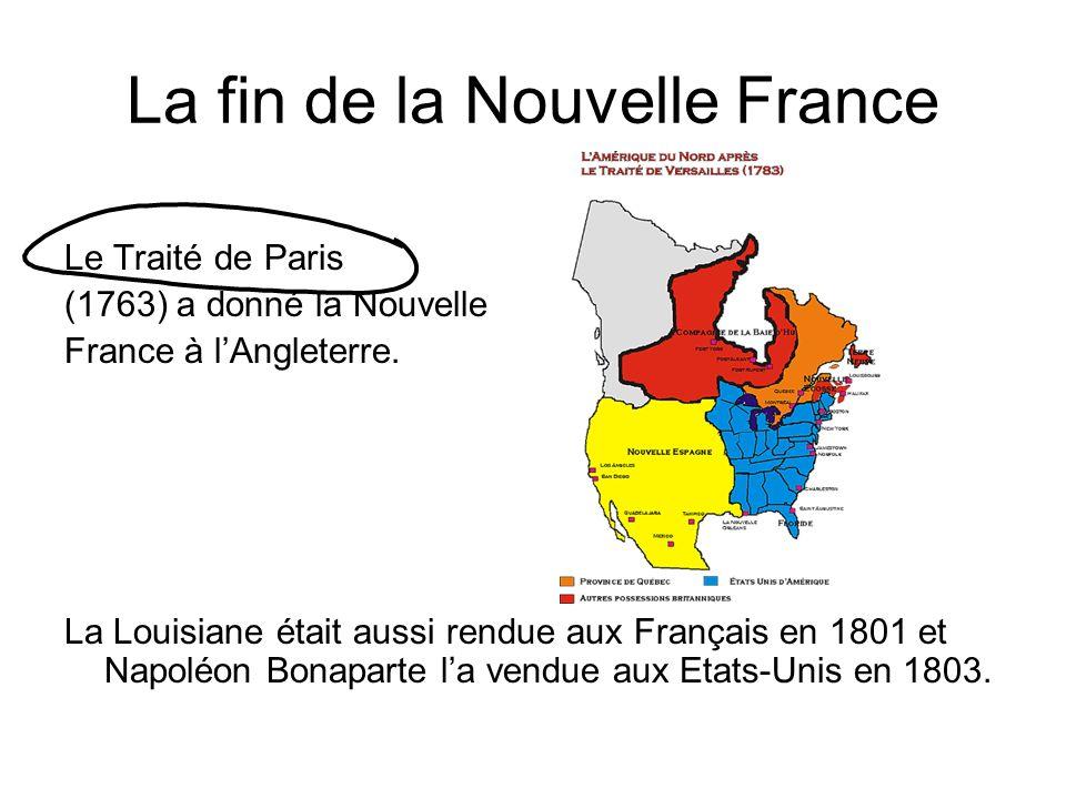 La fin de la Nouvelle France
