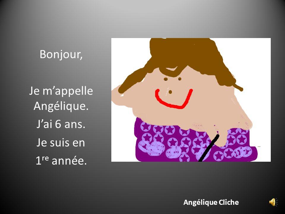 Je m'appelle Angélique.