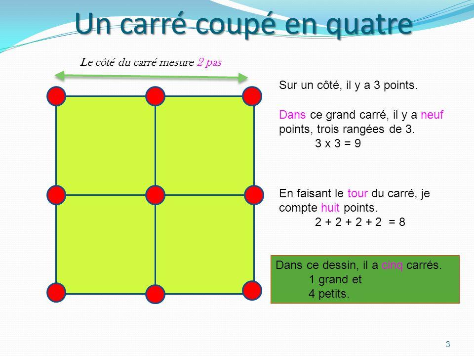 Un carré coupé en quatre