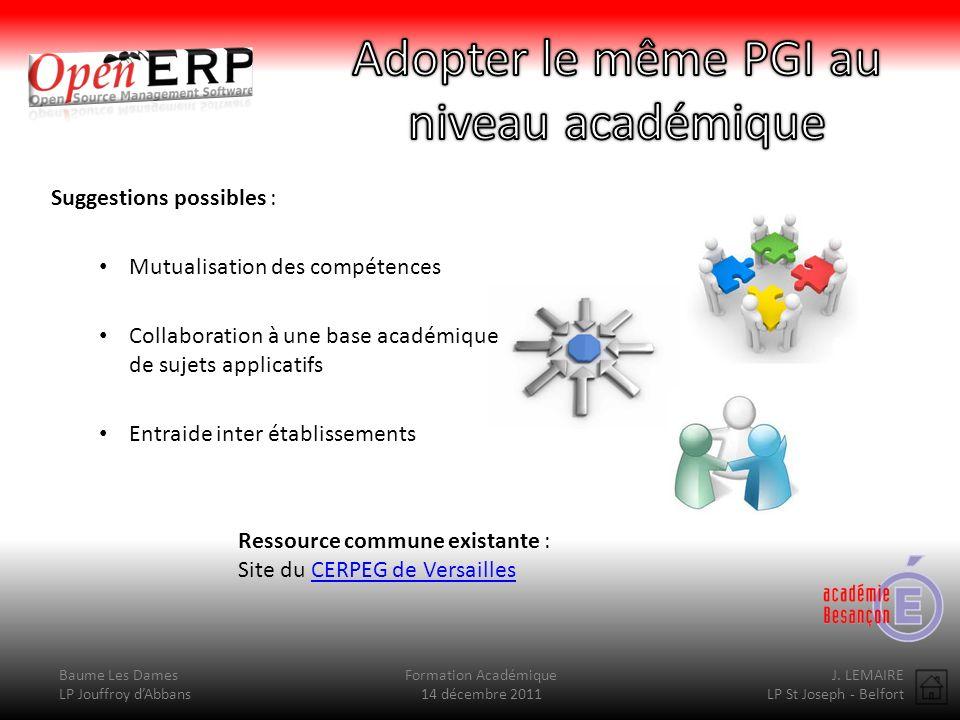 Adopter le même PGI au niveau académique