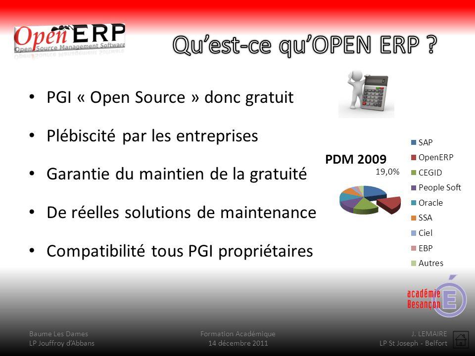 Qu'est-ce qu'OPEN ERP PGI « Open Source » donc gratuit