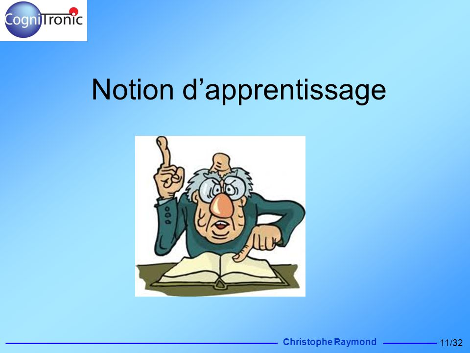 Notion d'apprentissage