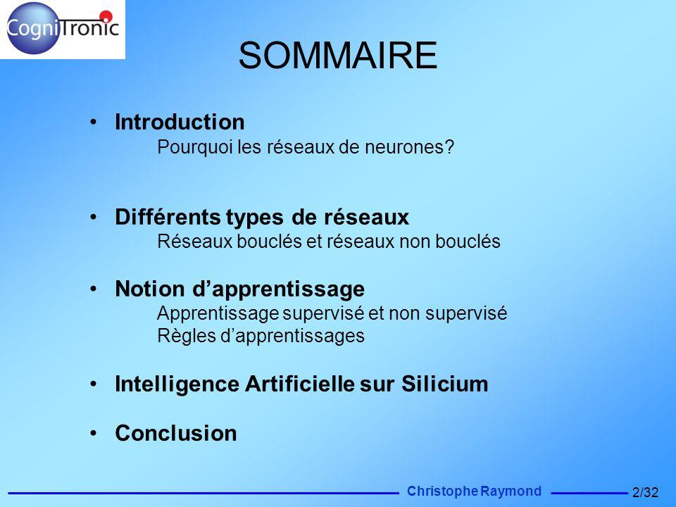 SOMMAIRE Introduction Différents types de réseaux