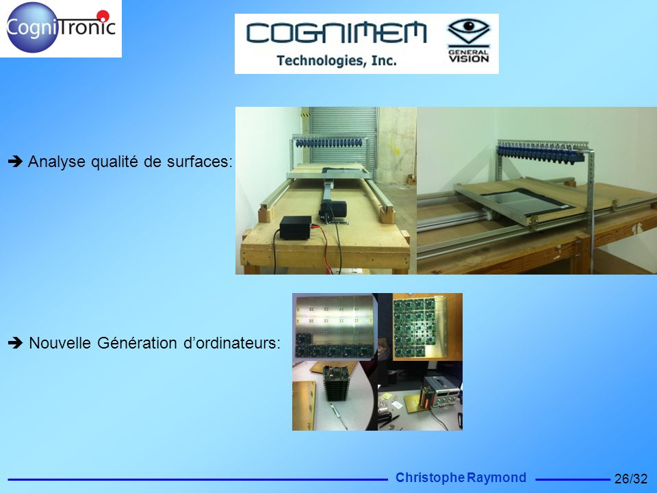  Analyse qualité de surfaces: