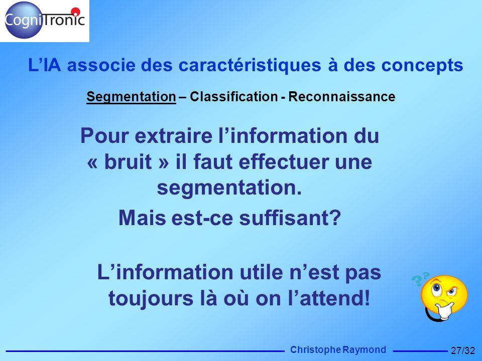 L'information utile n'est pas toujours là où on l'attend!