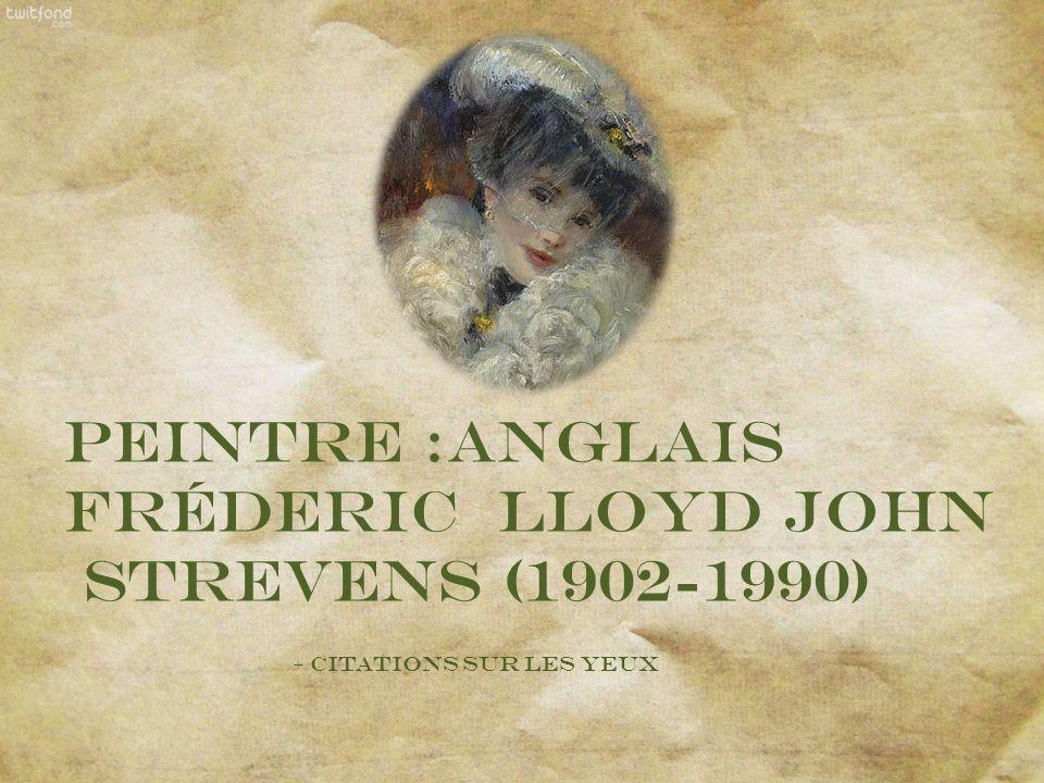 Peintre :Anglais Fréderic Lloyd John Strevens (1902-1990)