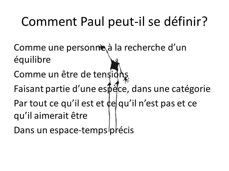 Comment Paul peut-il se définir