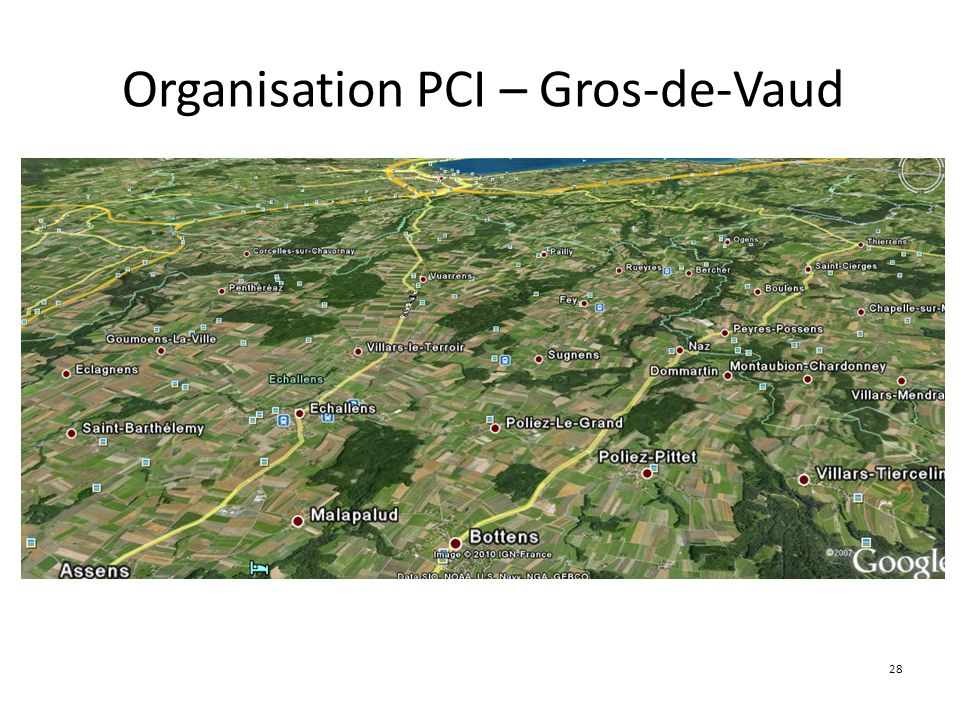 Organisation PCI – Gros-de-Vaud
