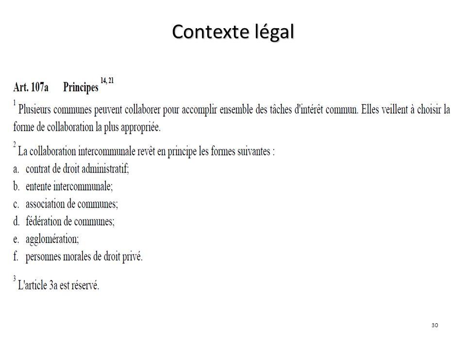 Contexte légal LC 30 30