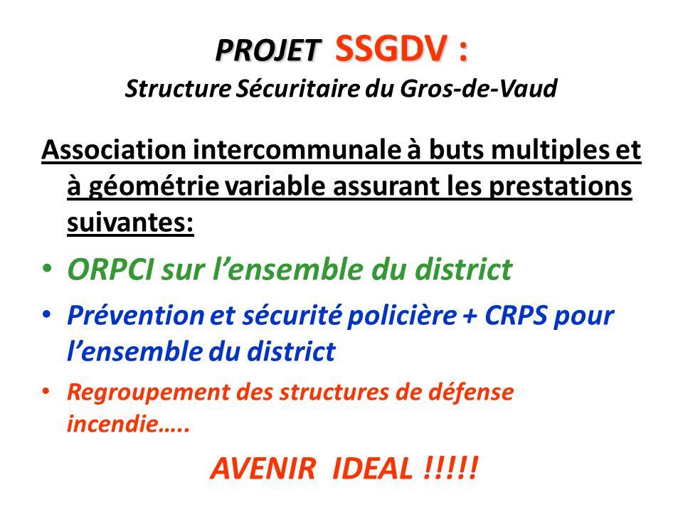 PROJET SSGDV : Structure Sécuritaire du Gros-de-Vaud