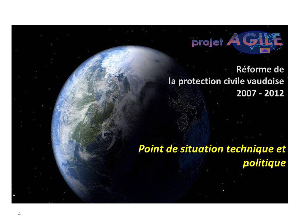 AGILE projet Point de situation technique et politique Réforme de