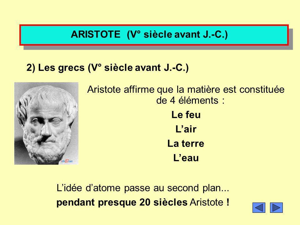 ARISTOTE (V° siècle avant J.-C.)