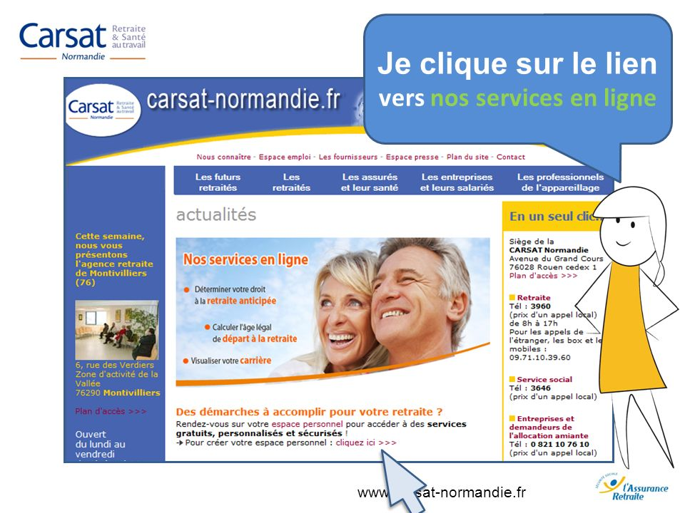 vers nos services en ligne