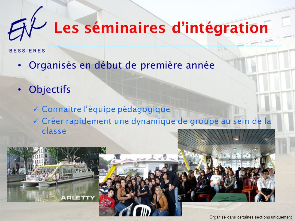 Les séminaires d'intégration