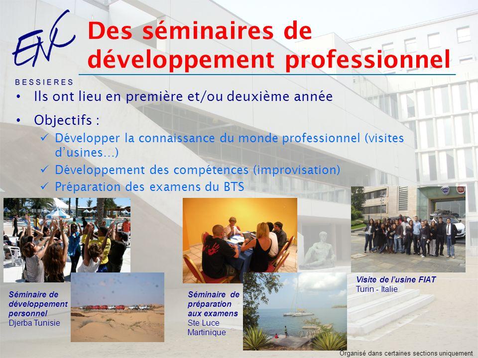Des séminaires de développement professionnel