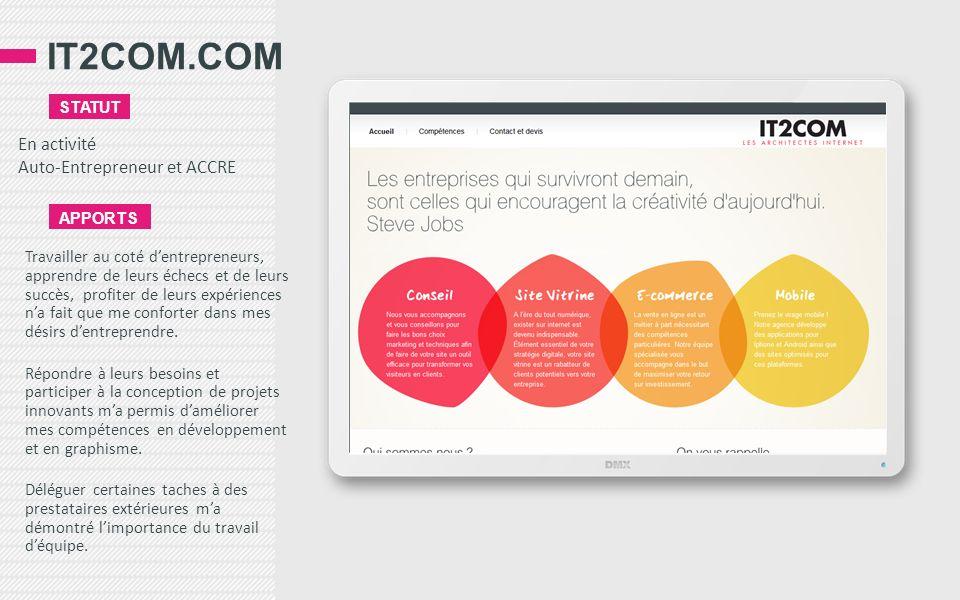 IT2COM.COM En activité Auto-Entrepreneur et ACCRE