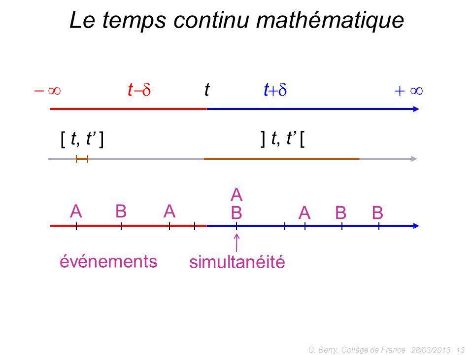 Le temps continu mathématique