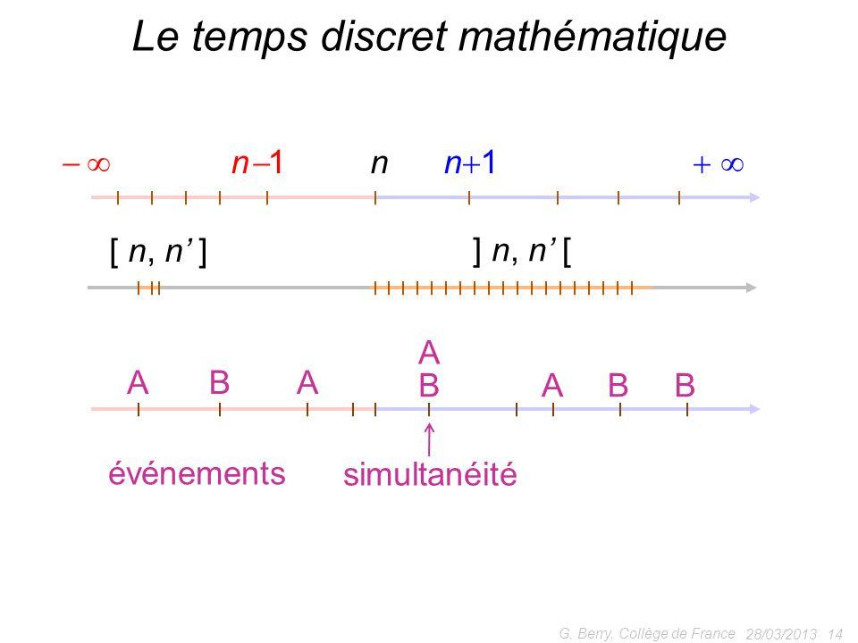 Le temps discret mathématique