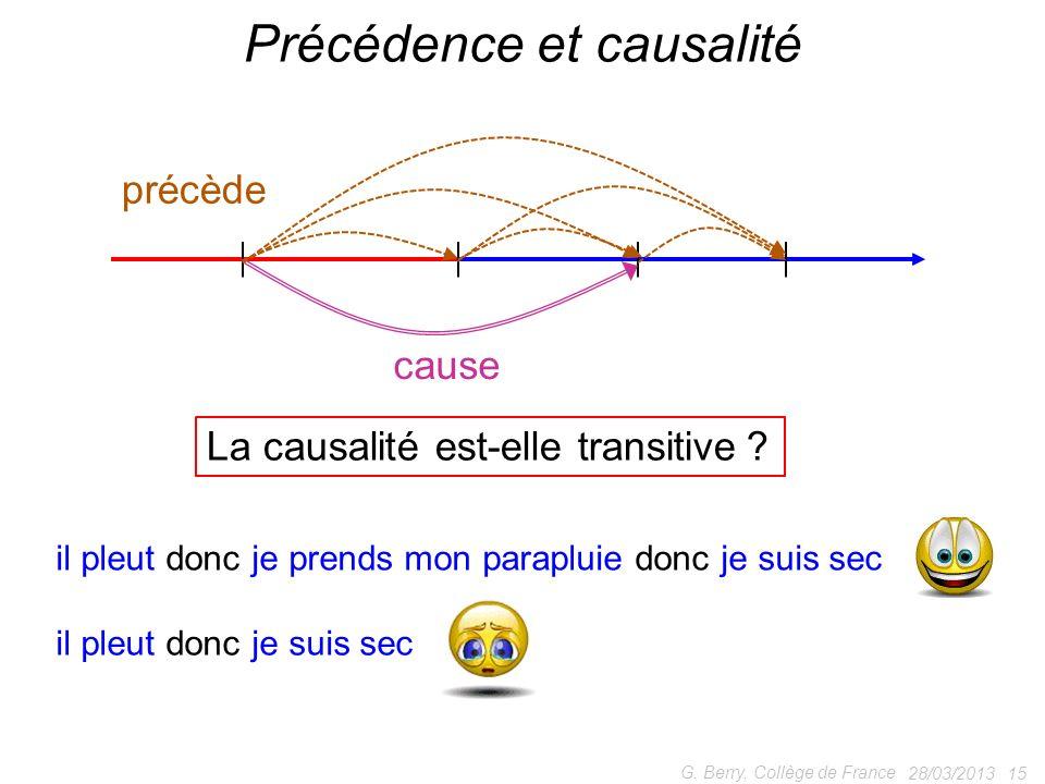 Précédence et causalité