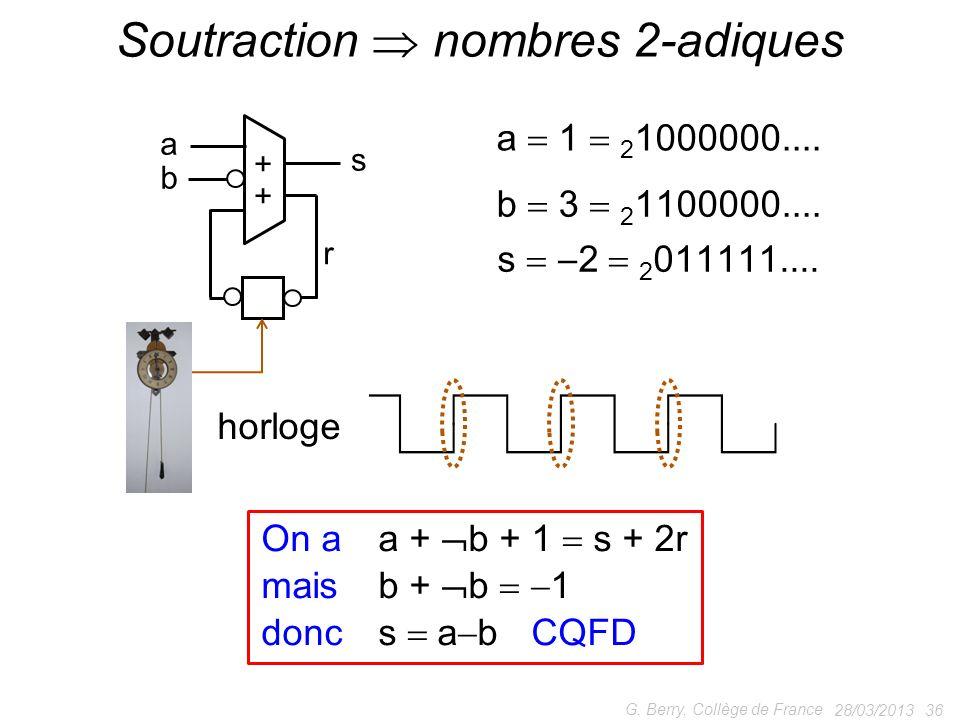 Soutraction  nombres 2-adiques