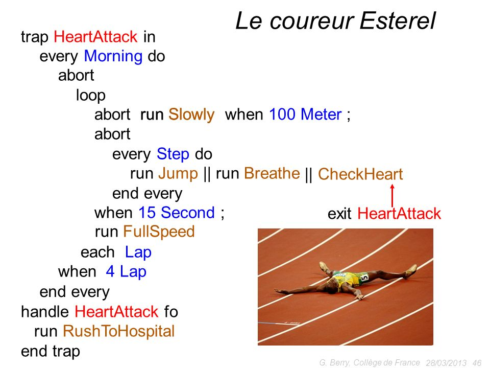 Le coureur Esterel trap HeartAttack in || CheckHeart exit HeartAttack