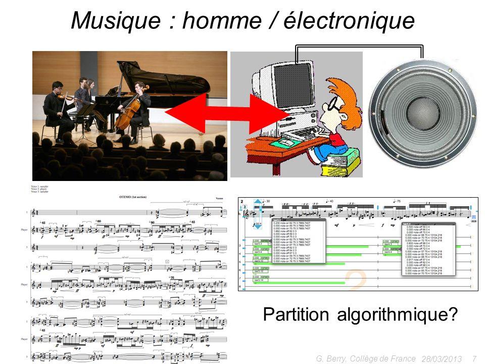 Musique : homme / électronique
